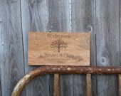 """Personalized Established Family Name Cutting Board 8""""x14"""" 3/4 Carved Engraved wedding or anniversary gift"""