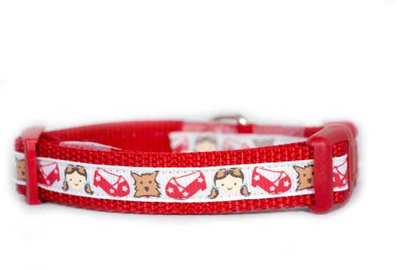 dorothy 39 s ruby slippers dog collar 1 2 5 8 or 3 4 by apolloscloset. Black Bedroom Furniture Sets. Home Design Ideas