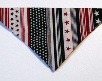 Dog Bandana, Patriotic, Independence, July 4, neckerchief, star, stripe