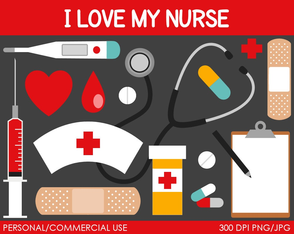 Nurse Clipart Digital Clip Art Graphics for by MareeTruelove