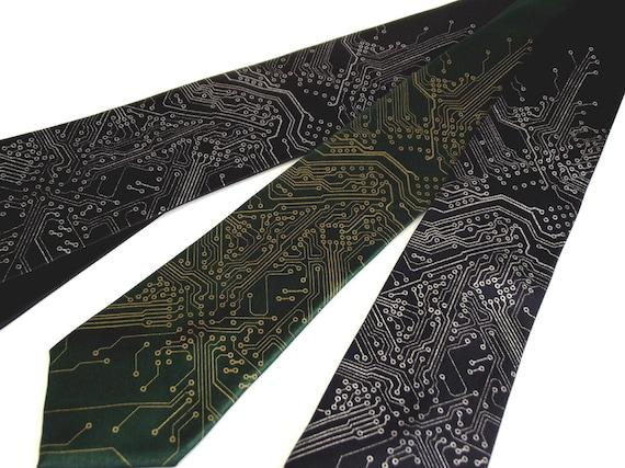 Circuit Board Mens Necktie - Premium Quality - Choose your color(s) and quantity