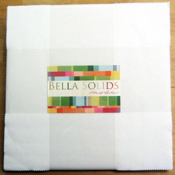 Bella Solids White Layer Cake Moda Precut 10 Quot Squares