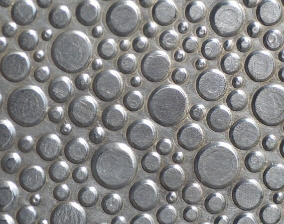 Nickel Silver Blank Circles Pattern 24g - 3 x 2 1/2 inches Textured Metal Sheet - Bracelets Pendants Metalwork Blanks