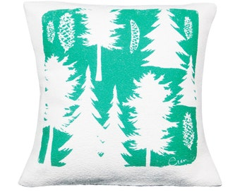Ashley Pine 20in Pillow in Teal