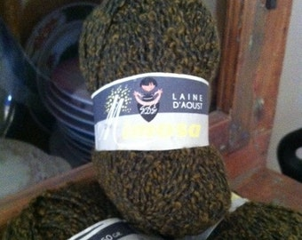 DISCONTINUED Mimosa Laine D'Aoust 'Boucle' Yarn - 6 Skeins 'Olive' FREE SHIPPING