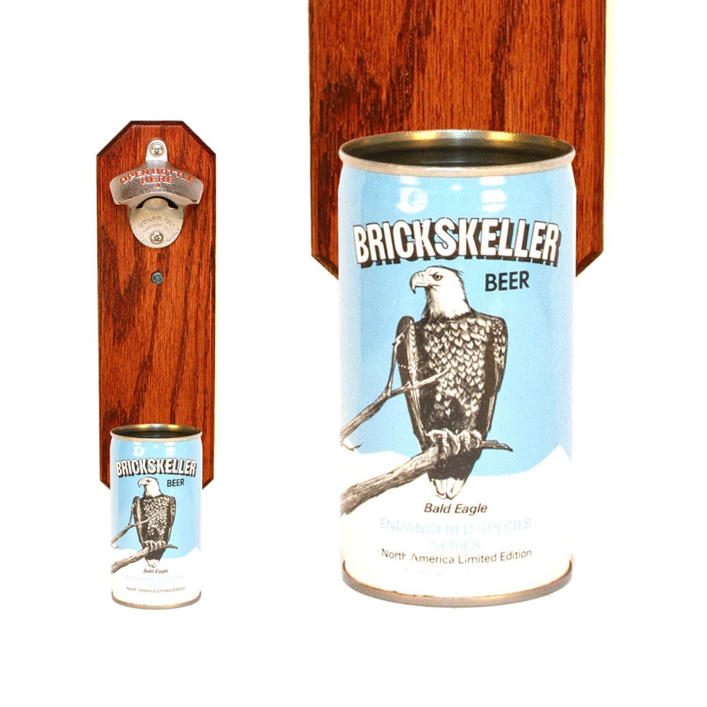 wall mounted bottle opener with vintage brickskeller by handysam. Black Bedroom Furniture Sets. Home Design Ideas