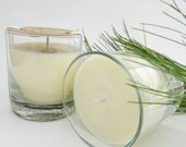 Soy Candle - Needle Fir Aromatherapy Candle in Glass Jar with Kraft Gift Box