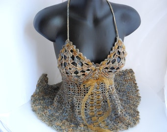 Gold Lace Camisole