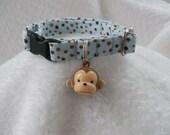 Monkey Cat Collar Jingle Bell Breakaway Cat Collar Custom Made