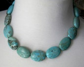 Chunky Turquoise Necklace Statement Necklace Chunky Necklace Gemstone Necklace Fashion Jewelry