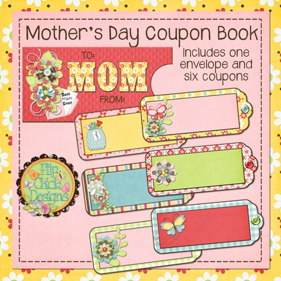 items similar to printable mothers day coupon book on etsy. Black Bedroom Furniture Sets. Home Design Ideas