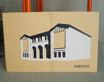 Vintage USC Architectural Print, Mid - Century, Architecture, 1953, Silk Screen Print , USC Campus, Prints, University, College, California