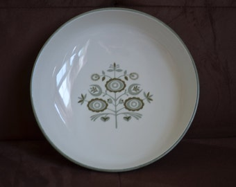 Heritage Serving Bowl/Franciscan China/Green Flowers-Green Leaves--Green Scrolls and Trim 1960-1969
