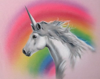 Airbrushed Unicorn/Rainbow Shirt