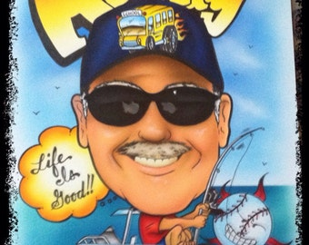 Airbrushed Caricature from your photo