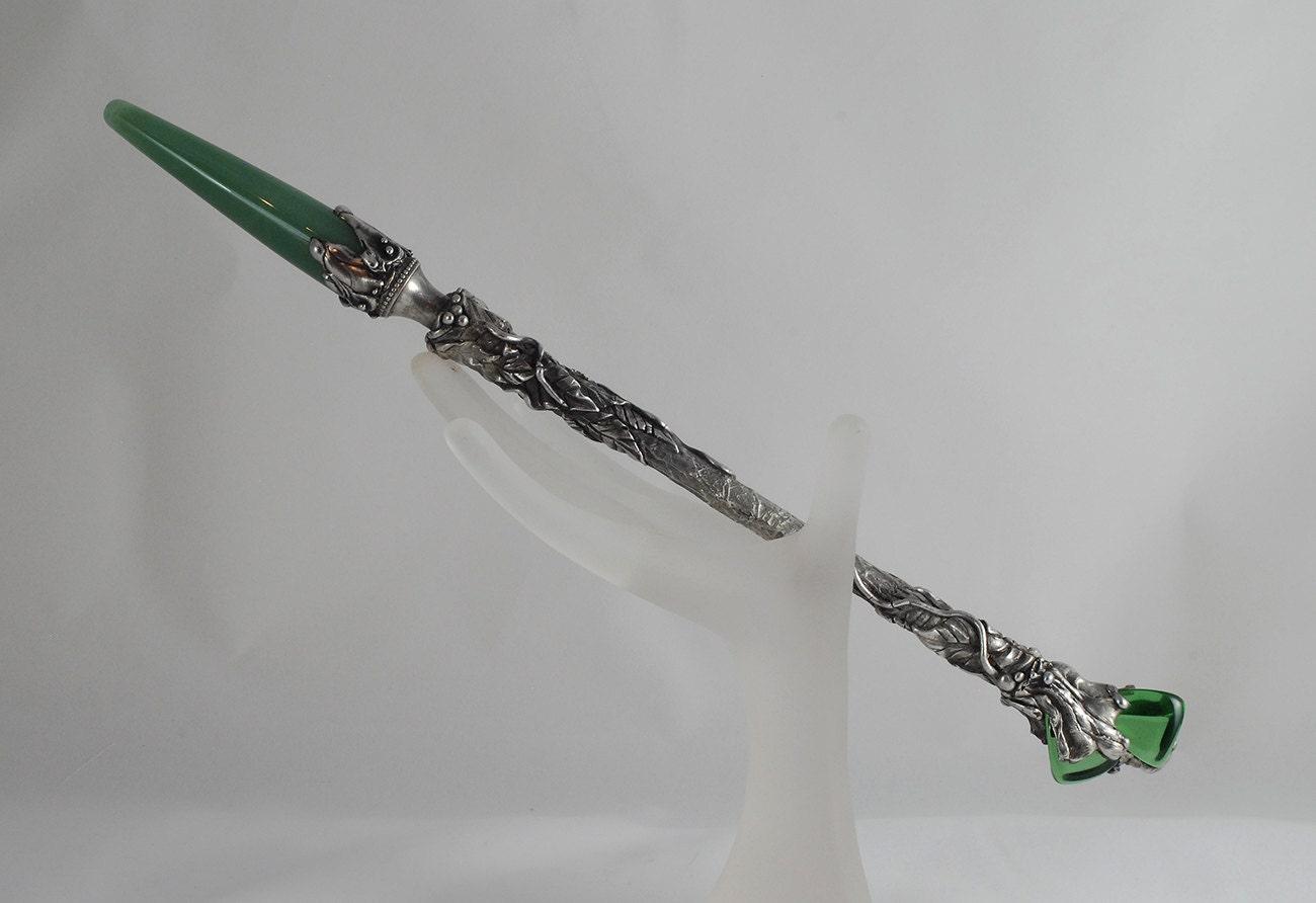 Earth goddess magic wand aventurine gemstone magic wand for Wizard wand