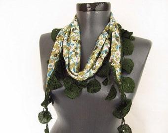 chiffon women  scarf - scarf shop - woman green scarves - women chic scarf - green long scarf - wholesale scarf