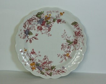 ridgeway ironstone dinner plate in the english garden pattern staffordshire england