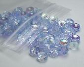 Czech Crystal Rondelle Beads Faceted EXTRA Light Sapphire AB Spacer Bead 3x6 Jablonex Preciosa 60 pcs. jab--extralightsapphire