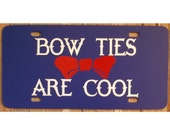 Doctor Who Bow Ties Are Cool License Plate 11th Doctor Car Tag