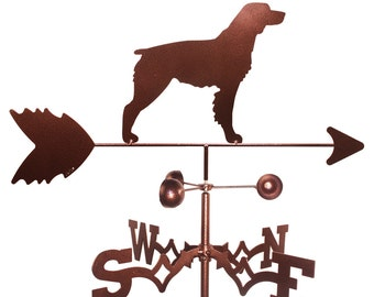 Hand Made Brittany Spaniel Dog Weathervane NEW