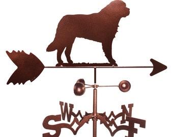 Hand Made Saint Bernard Dog Weathervane New