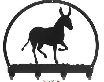 Donkey Mule Burro Metal Key Chain Holder Hanger