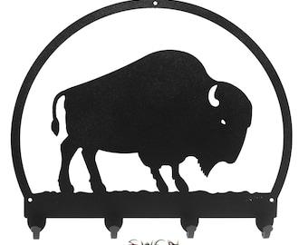 Bison Buffalo Black Metal Key Chain Holder Hanger