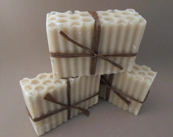 On Sale Now | Goat's Milk Soap | Oatmeal Soap | Honey, Fig and Oat Luxury Goat Milk Soap | Cold Process Soap | Bar Soap | Soap Dish Optional
