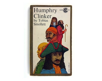 """Milton Glaser book cover design, 1960. """"Humphry Clinker"""" by Tobias Smollett"""
