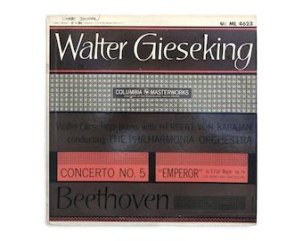 "Ronald Clyne record album design, c.1950. ""Walter Gieseking Plays Beethoven"" LP"