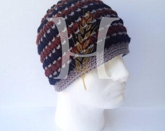 August Woods Textured Beanie for Guys Crochet hat