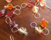 Orange Fire Stitch Markers