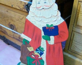 Large Wooden Santa