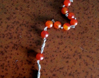 Single Decade Rosary in Red