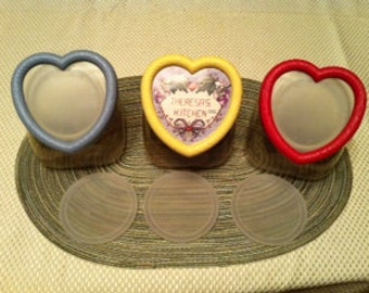 Country Kitchen Cross-Stitch Storage Containers - Vintage