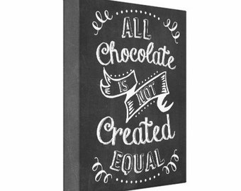 Personalized Typography Canvas Print, 8x10,  Chocolate, Chalk Board Design, Wall Decor, Canvas Print, Canvas Sign, Gift