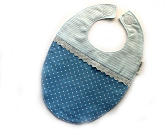 Lace Flannel Cotton Bib Photo Prop/ Baby Boy/ Toddler Bib Made In Israel by CasaDeGato