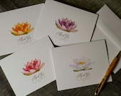 Lily Flower Thank You Notes