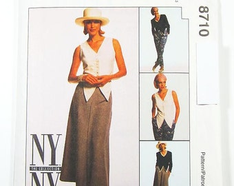 Pick Your Size - McCall's Separates Pattern 8710 - Misses' Lined Jacket, Unlined Vest, Pants and Skirt - McCall's Patterns