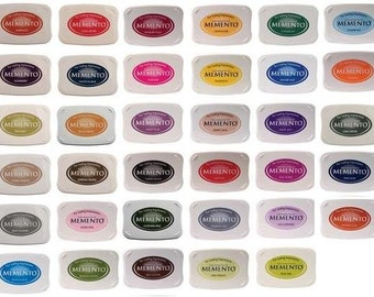 Memento Full Size Dye Ink Pads  - 35 colors to choose from.