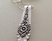 Silver Pendant. Jubilee 1953. Spoon Pendant. Silverware Jewelry.