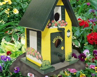 Custom Hand Painted Birdhouse