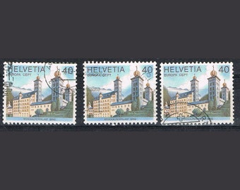 50 Postage Stamps - Castle - Stockalper Palace Brig Switzerland