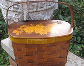 Summer Fun With This Great Wood Basket Weave Decoupage  Purse  Mad men