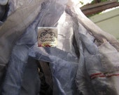 Sari Silk Recycled Ribbon in a Pastel Blue Grey