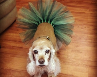 Sparkly Green Dog Tutu with Adjustable Velcro Waist