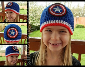 Crochet Captain America Hat