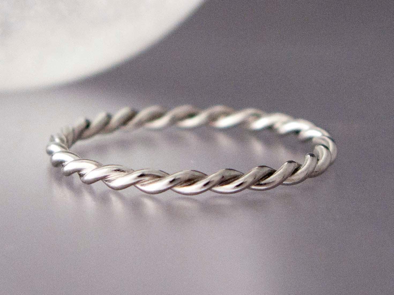 platinum twist ring tiny twist wedding band in solid. Black Bedroom Furniture Sets. Home Design Ideas