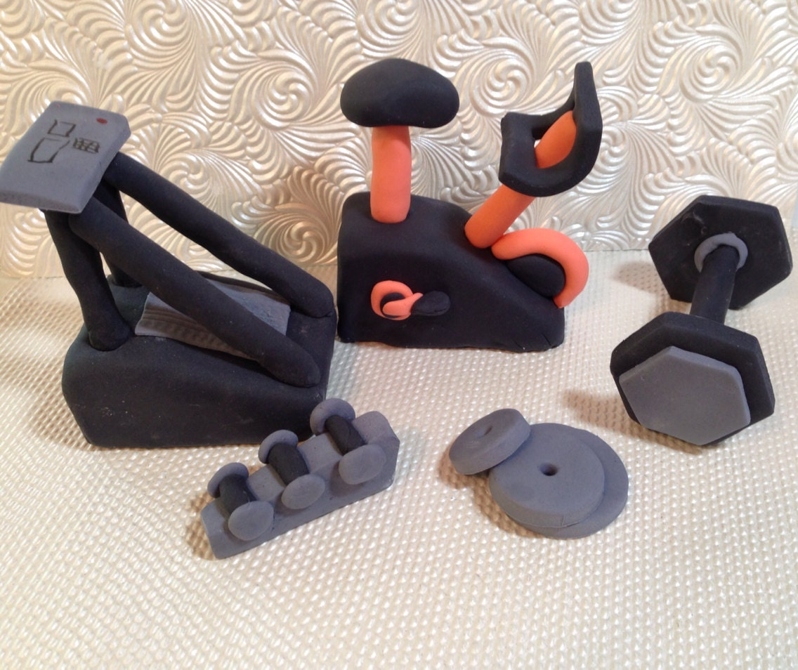 Gym Equipment Cake Toppers